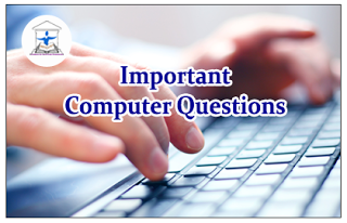 Important Computer Questions for SBI Clerk Exams 2016
