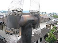 H傘とステンレス網