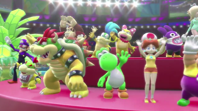 Nintendo Direct Mario & Sonic Rio 2016 Olympic Games Opening Movie cutscene Bowser Jr. Larry Koopa Wendy O. Waluigi Yoshi Daisy Nabbit