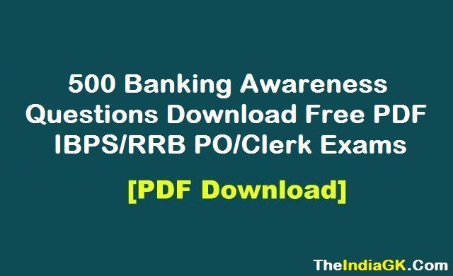 Ibps Banking Awareness Pdf