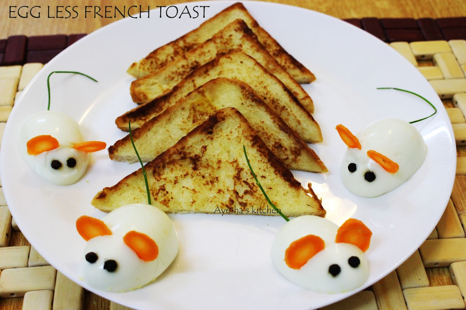 egg less french toast recipe - easy quick breakfast ideas