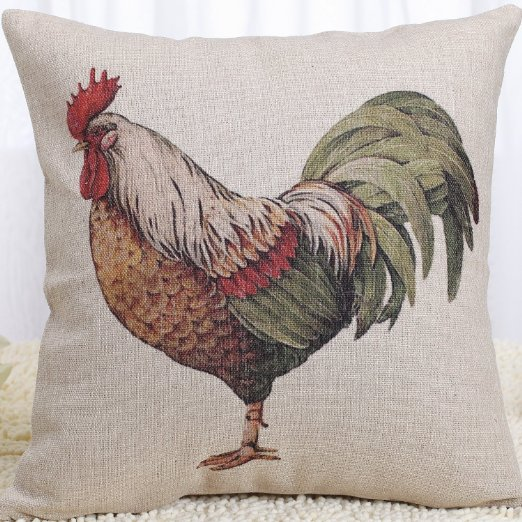 Amazon Rooster Pillow Cover