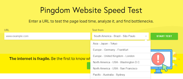 Pingdom Website Speed Test Server