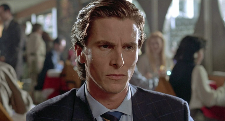 Christian Bale in AMERICAN PSYCHO (Mary Harron, 2000). Quelle: Lionsgate Blu-ray Screenshot (skaliert)