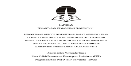 Contoh PKP UT PGSD