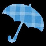 梅雨のマーク(開いた傘)