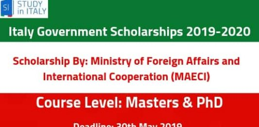 Italian Government Academic Grants for Foreign Students 2019-20