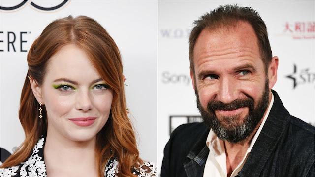 ✅ Emma Stone y Ralph Fiennes en The Menu de Alexander Payne