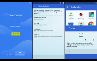 Peningkatan layanan untuk penyandang tunanetra pada sistem operasi Android N