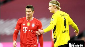 Bayern Munich 4-2 Borussia Dortmund  Erling Haaland and Robert Lewandowski's Klassiker shootout brought to an abrupt end by brutal Jerome Boateng foul