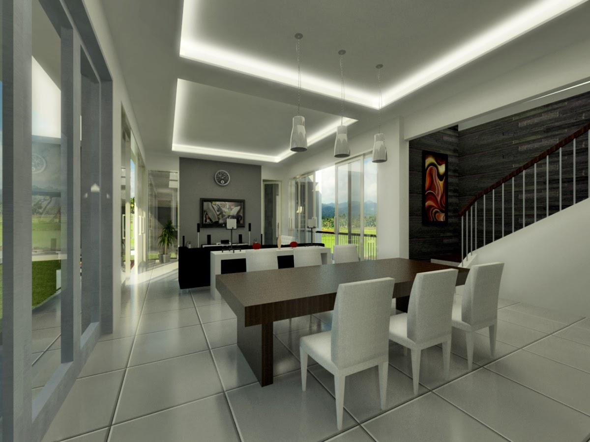 Desain Interior Rumah Minimalis Full Woods