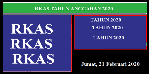 RKAS Tahun 2020 Versi Triwulan