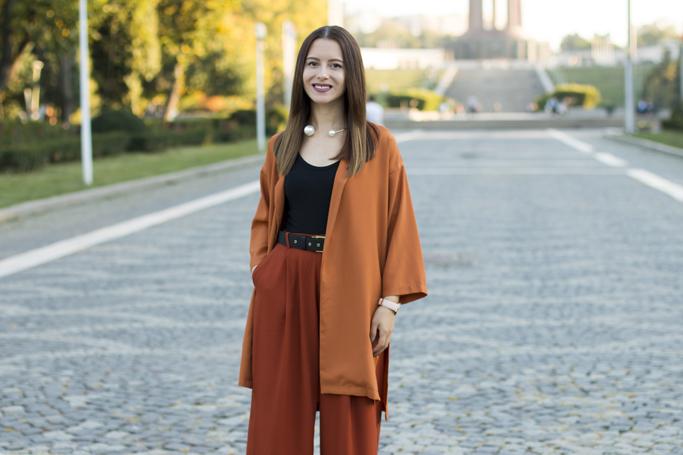 zaful orange blazer review