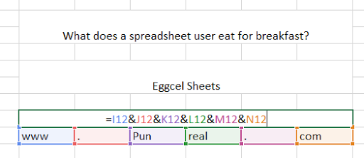 Eggcel sheets are almost as tasty as these Excel puns.