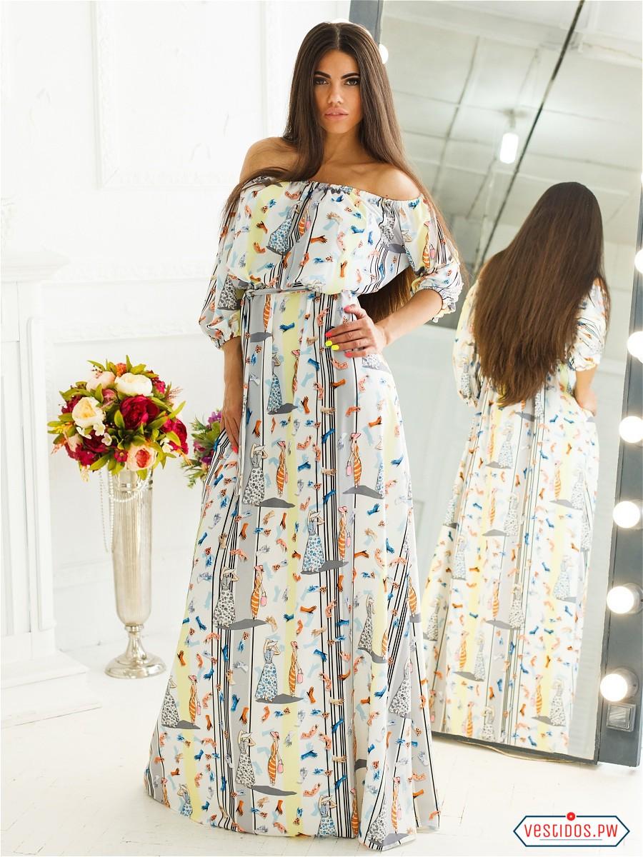 Modas de vestidos largos informales
