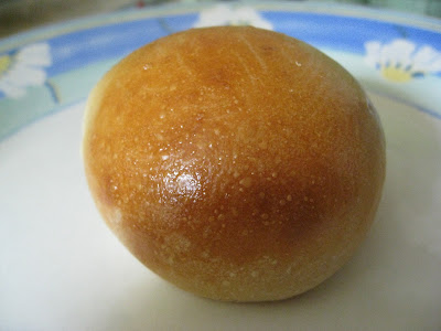 Bread with a shiny egg yolk glaze