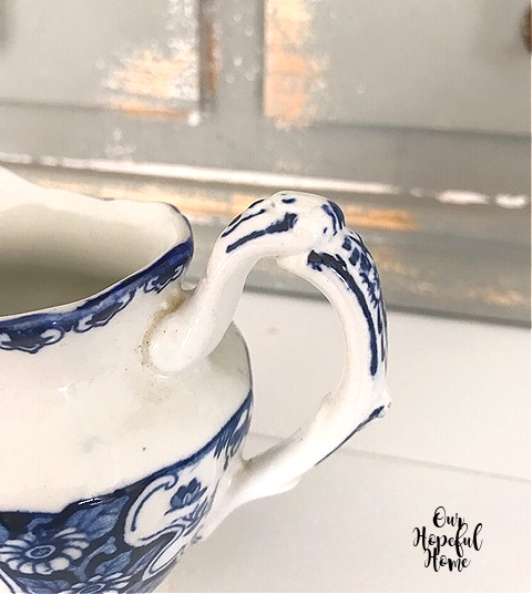 delicate china creamer handle