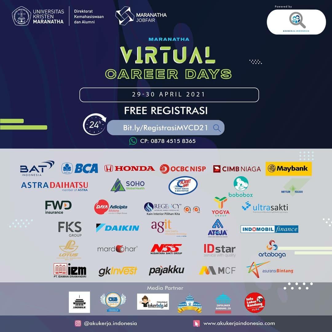 Maranatha Virtual Career Days 29 - 30 April 2021