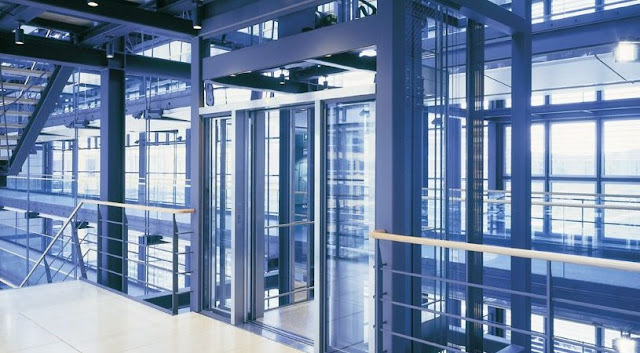 Glass elevator for convenience and psychological comfort