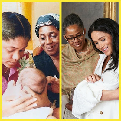 Meghan with her mom and grandma VS Archie with his mom and grandma