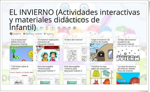 """""""10 actividades interactivas y materiales didácticos sobre EL INVIERNO en Educación Infantil"""""""