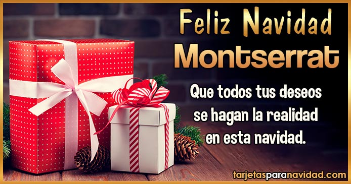Feliz Navidad Montserrat