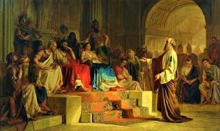 Павел се защитава в Кесария пред Фест и Агрипа