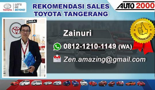 Rekomendasi Sales Toyota Rawa Bokor Tangerang