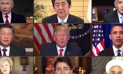 Montagem com líderes mundiais