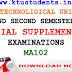 Question Paper for Defferential Equations MA102-Special Supplementary Examination Aug/Spt 2016
