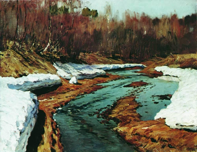 Исаак Ильич Левитан - Весна. Последний снег (1). 1895