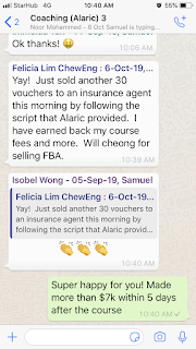 Alaric Ong happy clients