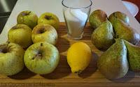 Compota de manzana y pera casera.