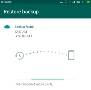 Restore backup WhatsApp