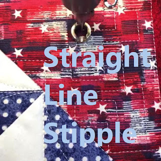 STRAIGHT LINE STIPPLE-FREEMOTION QUILTING-QUILT FILL