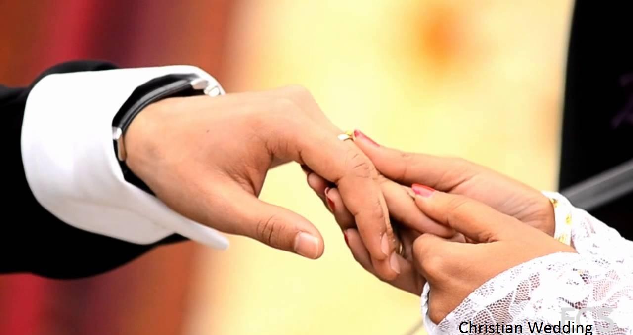 Christian Wedding Day Custom Celebration Brings Smile on Couple Face