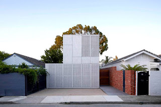 Concrete melbourne home facade