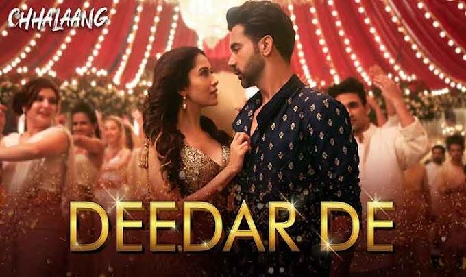 दीदार दे Deedar De Hindi Lyrics – Chhalaang