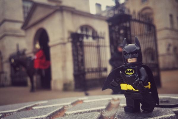 Batman at Buckingham Palace