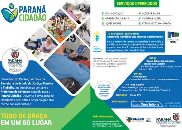 Jardim Osasco recebe o Programa Nosso Bairro e Paraná Cidadão de Colombo