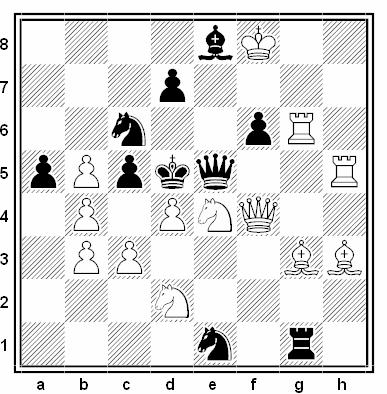 Problema de mate en 2 compuesto por Emanuel Navon (1º-3º Premio, Spisska Borovicka 2004)