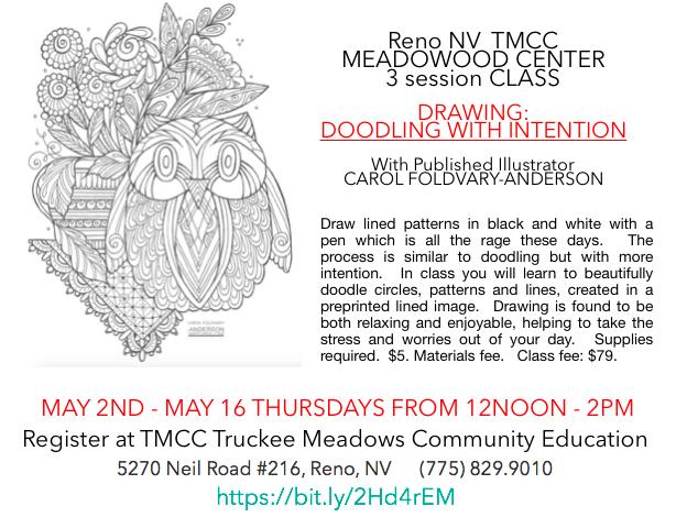 Latimer Art Club: Carol Foldvary-Anderson Announces Class