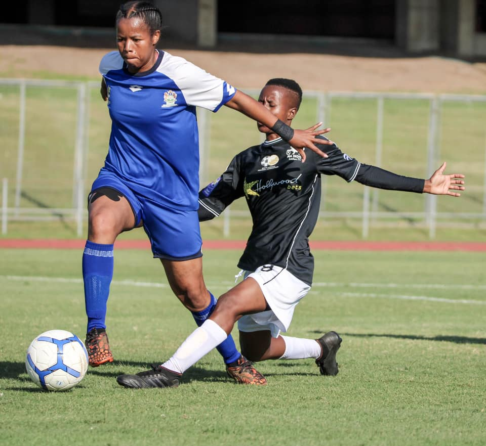 Durban Ladies during the 5-1 win over Ma Indies at the Chatsworth stadium