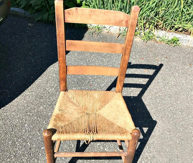 Vintage chair found on the side of the road