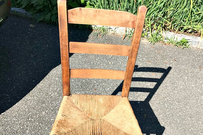 Make a Vintage Chair Planter