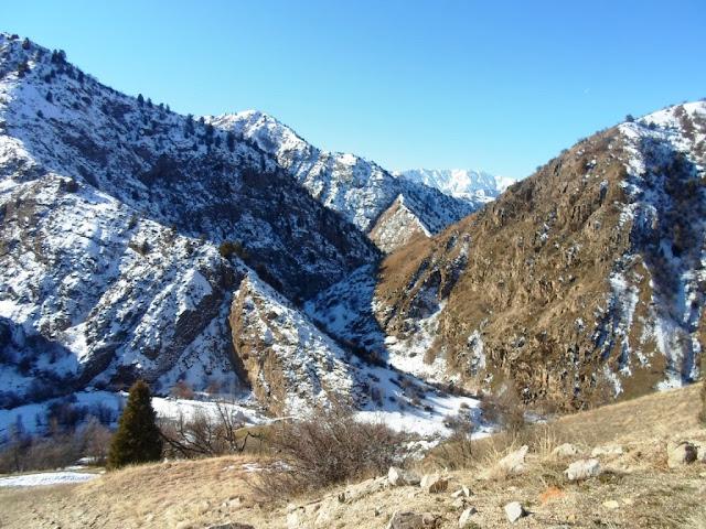 Зимний поход в ущелье Оджук, Варзоб, горы Таджикистана - фотообзор похода