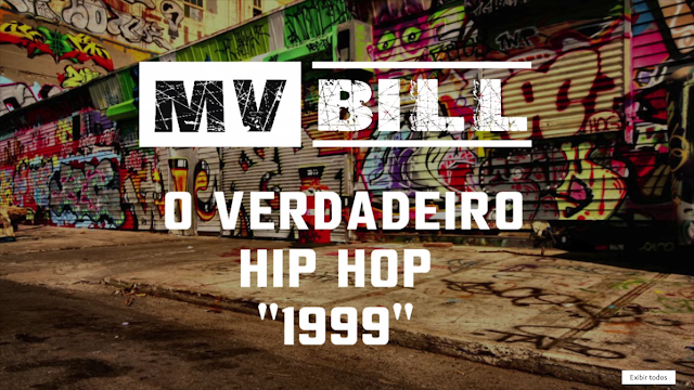 "Mv Bill solta em seu canal do Youtube a musica ""O Hip Hop Verdadeiro (1999), com part. de Ice Blue, Dom Michel, DJ TR, Neo Boy, Magno C4 & P.mc"