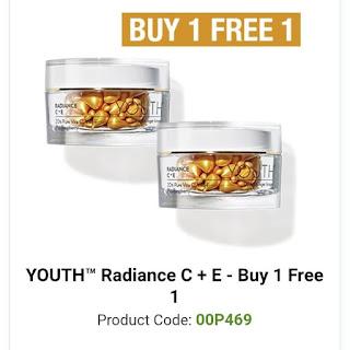 Promosi Youth Skincare Shaklee Harga Ahli Radiance Capsule C + E