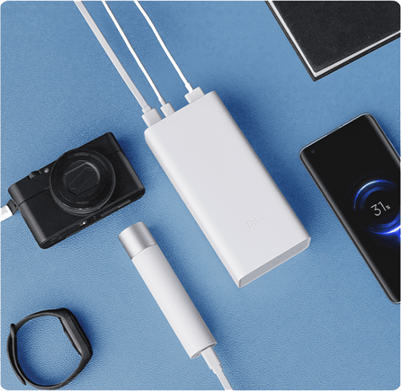 The power bank with 3 ports