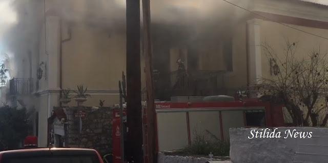 Στυλίδα: Φωτιά σε νεοκλασικό σπίτι